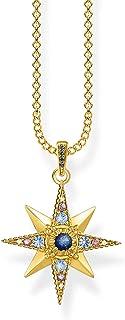 Thomas Sabo - Collar para mujer de plata de ley 925, diseño de estrella, 40 – 45 cm de longitud