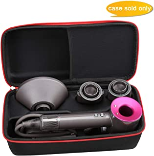 Aproca Hard Travel Storage Case Bag Fit Dyson Supersonic Hair Dryer (Black-Large)