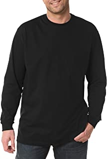 Harbor Bay by DXL Big and Tall Long-Sleeve Pocket Wicking Crew Shirt