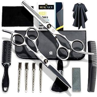 ست قیچی موی زائد - کیت مدل موی زنانه و مردانه 14 عددی - قیچی آرایشگری حرفه ای شارپ - قیچی کوتاه کننده لاغری و قیچی موی قیچی یا قیچی موجود در کیت موبر.