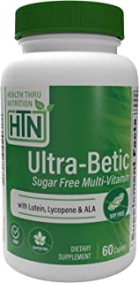 Ultra-Betic Multi-Vitamin and Mineral Formula (60 Caplets) (Sugar Free) by Health Thru Nutrition