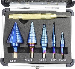AYUN Metal 5 mm Broca escalonada de Acero de Alta Velocidad para Madera 35 mm
