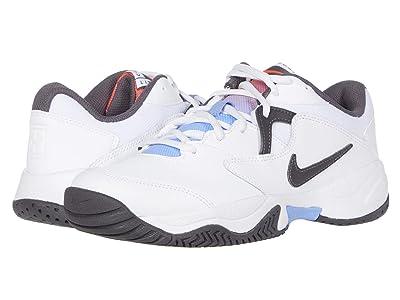 Nike Court Lite 2 (White/Thunder Grey/Laser Crimson) Women