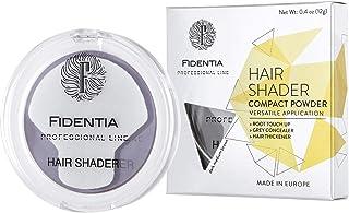 Fidentia corrector para el cabello - polvo para el cabello para espesar, ocultar la base, cubierta para el cabello gris - 12g marrón medio oscuro