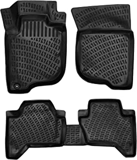 Croc Liner Floor Mats Front and Rear All Weather Custom Fit Floor Liner for MITSUBISHI L200 2005-2015