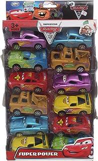 مجموعة سيارات سباق لعبة سوبر باور كارز 12 قطعة اولاد, متعدد الالوان