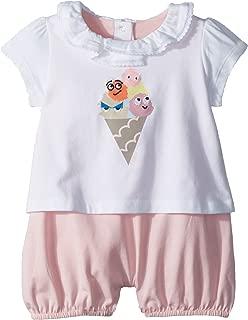 Fendi Kids Womens Romper w/Collar & Ice Cream Graphic (Infant)