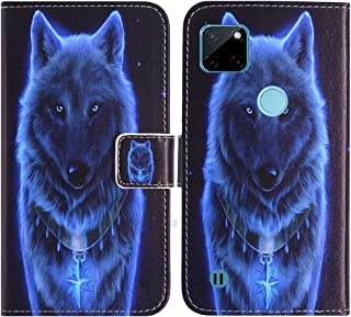 TienJueShi Wolf Fashion Stand TPU Silicone Book Stand Flip PU Leather Protector Phone Case For Realme C21Y 6.5 inch Cover ...