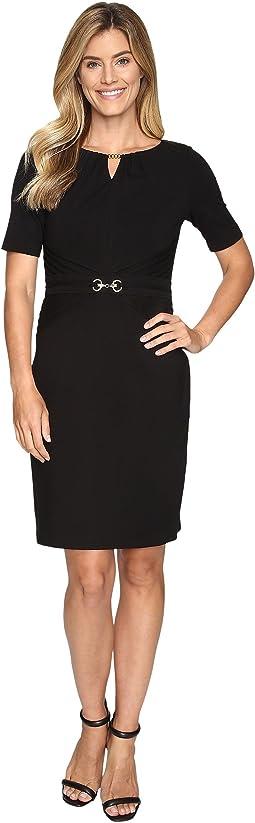 Luxe Stretch Dress w/ Keyhole