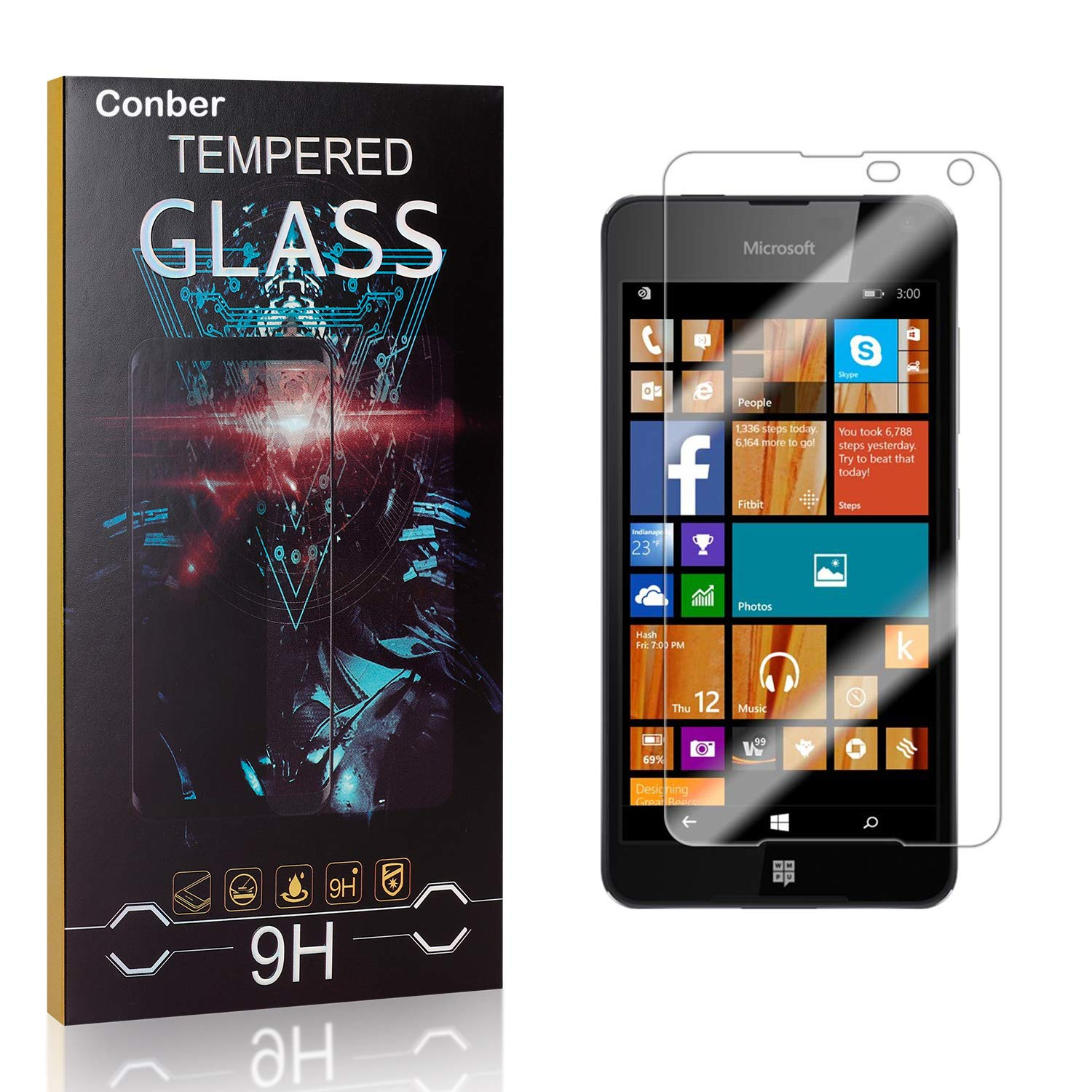 Conber Screen Protector for Microsoft Lumia 650 Tem Pack Max 70% New popularity OFF 9H 1