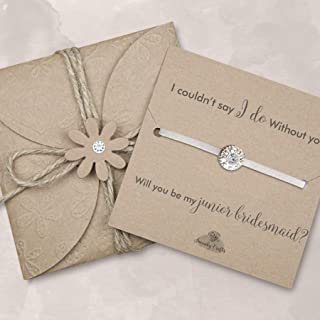 Will you be my junior bridesmaid bracelet, Asking junior bridesmaid gifts, junior bridesmaid proposal gifts, Ivory