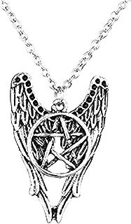 Handmade with Love Supernatural Angel Wings Pentagram Castiel Necklace Cas Sam Dean Winchester