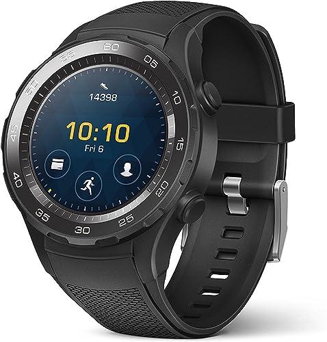 2021 Huawei Watch 2 Sport Smartwatch sale - Ceramic Bezel - Carbon wholesale Black Strap (US Warranty) sale
