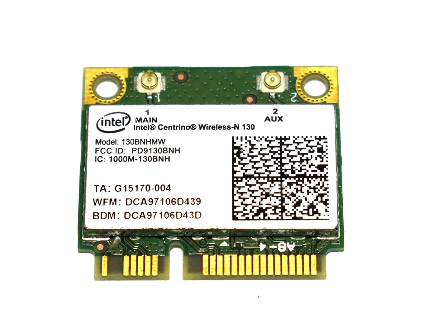 宴会女将浅いIntel Centrino Wireless-N 130 802.11bgn 150Mbps + Bluetooth 3.0 130BNHMW