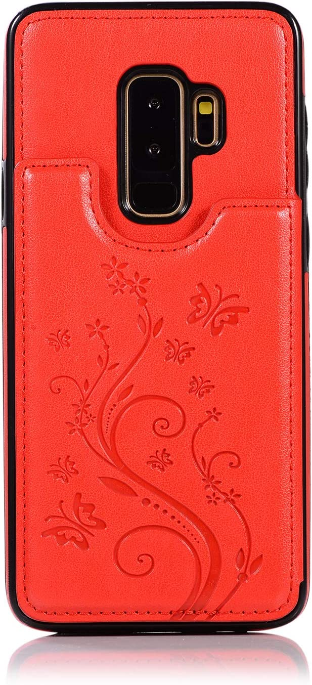 Back Wallet Case for Samsung Galaxy with Ranking TOP18 Indefinitely Stand S9 Plus Ele QFFUN