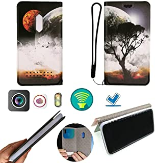 FY Flip Case For Tecno Pop 3 Plus Cover Flip PU Leather + Silicone Ring case Fixed XQDS