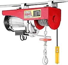 Happybuy 1500LBS Lift Electric Hoist 110V Electric Hoist Remote Control Electric Winch Overhead Crane Lift Electric Wire Hoist