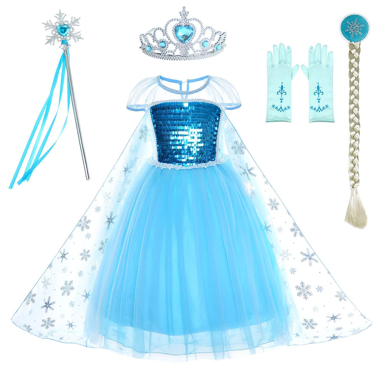 Frozen Tutu Dress  Elsa blue  ages 1 2 3 4 5 6 years girls PARTY