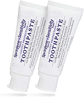 Natural 2-Pack Toothpaste for Sensitive Teeth and Gums, SLS-Free Toothpaste with Fluoride for Cavity Protection, Gluten-Fr...