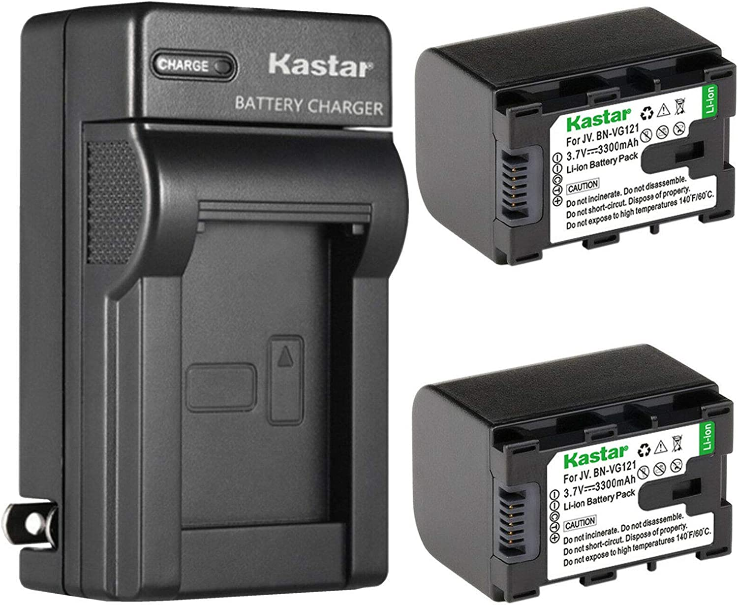 Kastar 2-Pack free Battery Outlet ☆ Free Shipping and AC Wall JVC Replacement GZ for Charger