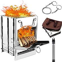 Outdoor Portable Wood Stove Backpack Survival Wood Camping Kits Picnic N4Q3