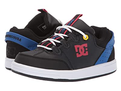 DC Kids Syntax (Little Kid/Big Kid) (Black/Blue/Red) Boys Shoes