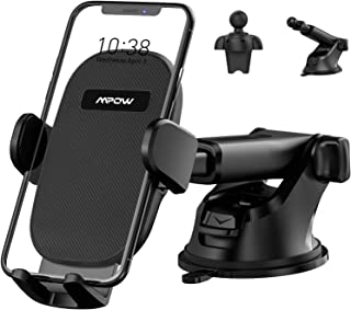 Car Phone Mount, Mpow 3-1 Phone Holder for Dashboard & Air Vent & Windshield with Strong Suction Cup and Twist-Lock Clip Compatible iPhone 11 Pro MAX XS XR X 8 7 6Plus Etc