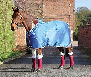 Shires Tempest Original Fleece/Mesh Cooler Rug-Royal/Pink/Grey Size: 6ft9
