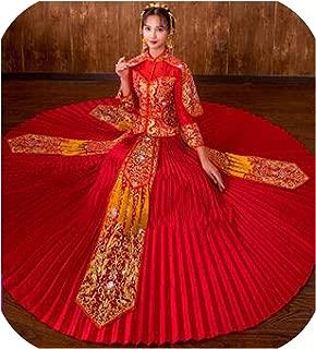 Cheongsam Oriental Vintage Hanfu Qipao Overseas Chinese Wedding Dress Noble Toast Clothing