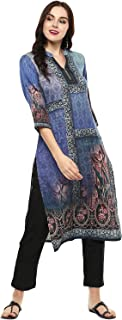 Lagi Women Designer Straight Front Slit A line Top Tunic Kurta Kurtis Casual Formal Party wear Wedding wear for Women top Tunic.