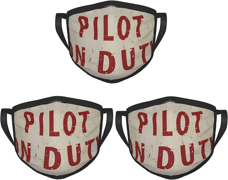 Balaclava Earmuffs Vintage Pilot On Duty Vintage Logo Face Mouth Cover Mask Reusable Dust Scarf Towel Cover Headwrap