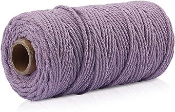Mousyee Touw String, Katoen Touw String, 2mm Katoen Touw Kleurrijke DIY Craft Katoenen String Duurzaam Nooit Vervaag Verpa...