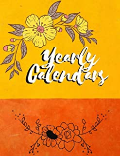 Yearly Calendars: Monthly Budget Planner, Expense Finance Budget By A Year Monthly Weekly & Daily Bill Budgeting Planner A...