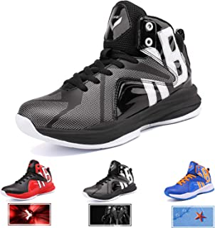 new style 0c548 da3f1 WETIKE Kids Basketball Shoes High-Top Sneakers Outdoor Trainers Durable  Sport Shoes(Little Kid