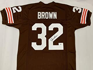 Autographed Jim Brown Jersey - Legend Beckett Bas Coa Syracuse - Beckett Authentication - Autographed NFL Jerseys