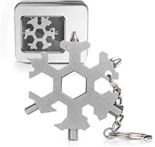 Snowflake Multi Tool 19-in-1 Stainless Steel EDC Multitool Keychain Bottle Opener/Screwdriver/Wrench/Portable Outdoor Travel Camping Multi Function Pocket MultiTool Gadgets for Men (19-1 Snowflake)