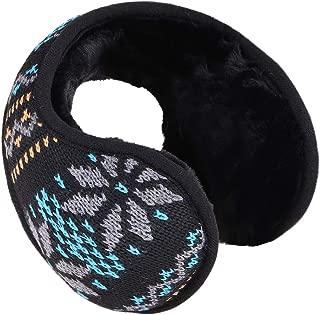 Unisex Classic Faux Fur Earwarmers Womens Mens Winter Knitted Earmuffs