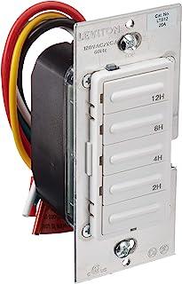 Leviton LTB12-1LZ Decora 1800W Incandescent/20A Resistive-Inductive 1HP Preset 2-4-8-12..