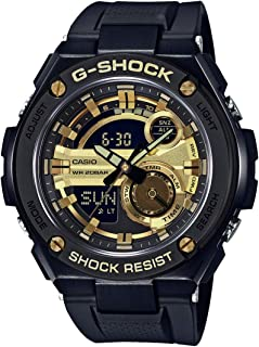 Casio G-Shock G-Steel Black And Gold Gst210B-1A9 Watch