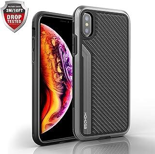 iPhone Xs Max ケース 耐衝撃 3重構造 tpu+アルミニウム合金バンパー+炭素繊维 3m落下テストに合格 アイフォンXs Max カバー 全面保護 薄型 12mm ビジネス、日常シーンに適用 アイホンXs Max用 6.5in ブラック