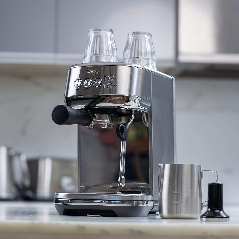 SAGE SES500 the Bambino Plus, Machine à Expresso avec mousseur à lait automatique, Acier inoxydable brossé Acier Inoxydable Brossé