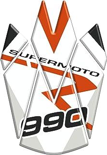 Motocicleta Gas Pantalla/Depósito de Combustible de Goma Tankpad Pantalla adhesivo para K.T.M. Supermoto 990 v1