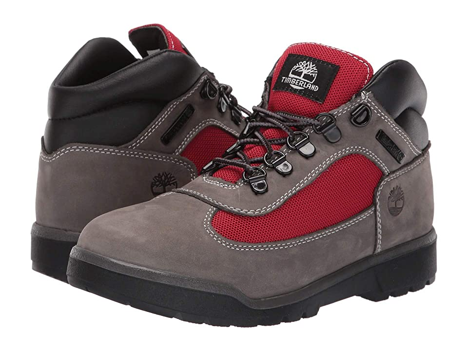 Timberland Kids Fabric/Leather Field Boot (Big Kid) (Grey Waterbuck) Boys Shoes