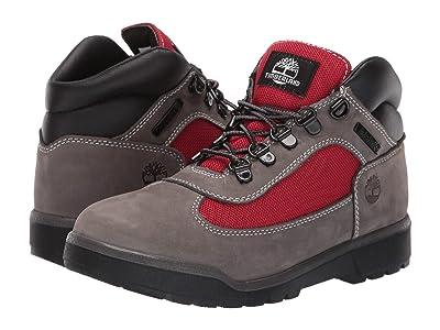 Timberland Kids Fabric/Leather Field Boot (Big Kid) (Grey Waterbuck) Boys Shoes