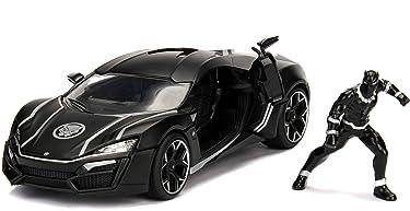 """Jada Toys Marvel Black Panther & W Motors Lykan Hypersport DIE-CAST Car, 1: 24 Scale Vehicle & 2.75"""" Collectible Metal Figurine"""