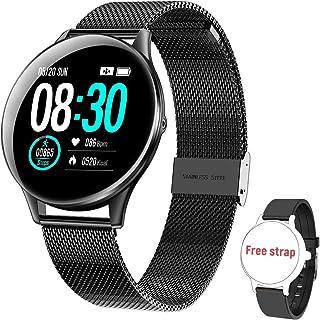 HopoFit Reloj Inteligente para Mujer y Hombre, Smartwatch de Android iOS Phone con monitoreo de frecuencia cardíaca/sueño,...