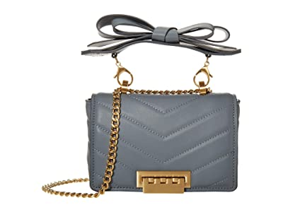 ZAC Zac Posen Soft Earthette Mini Chain Crossbody (Steel) Handbags