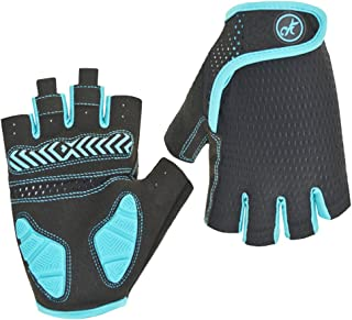 HuwaiH Bike Gloves Gel Pad Shock Absorbing Anti Slip Outdoor Sports Riding Working Half Fingers Cycling Gloves Short Mountain Bicycle Motorcycle Gloves