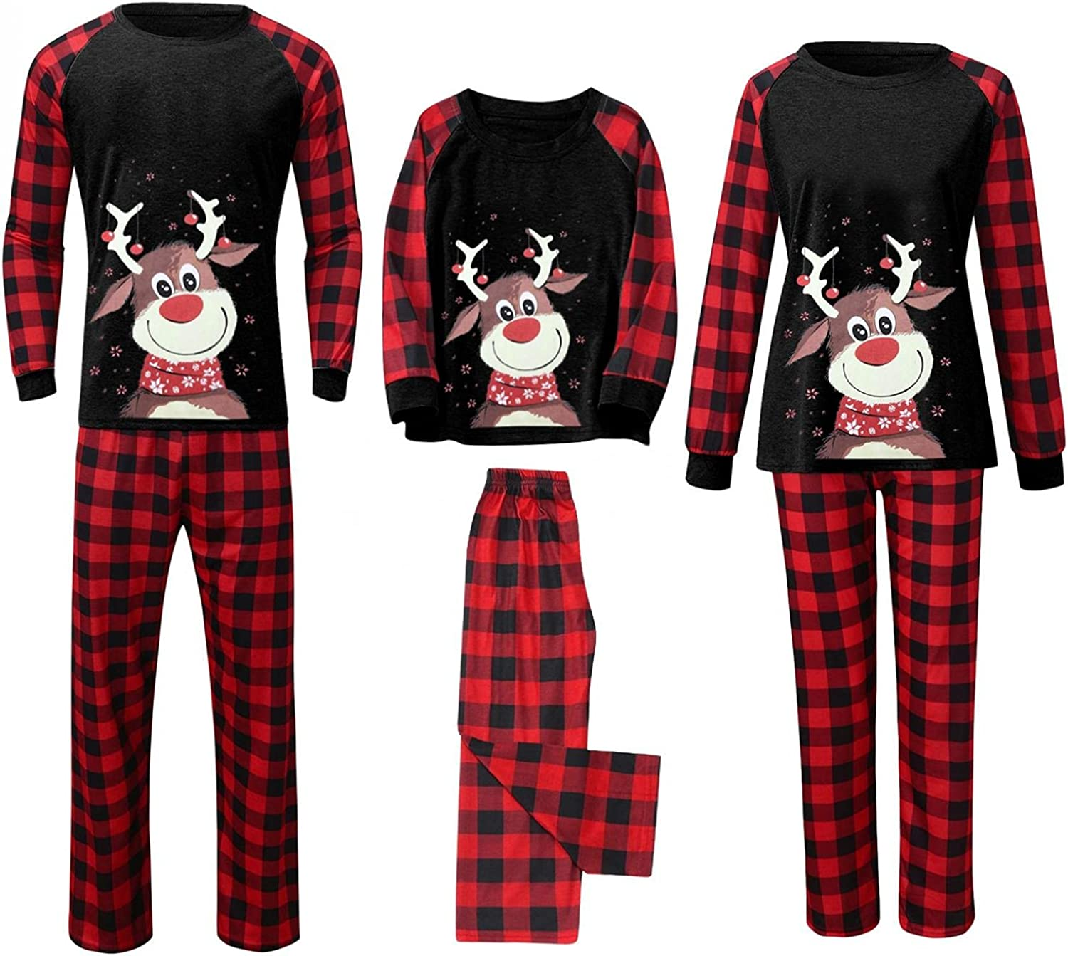 Men Women's Baby Product 2-Piece Family Matching High material Holiday Jammies Pajama