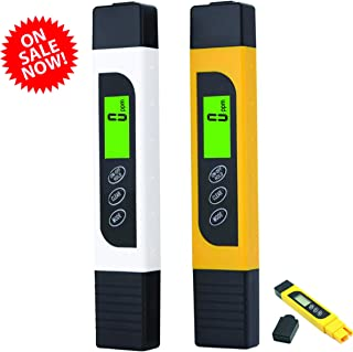 3 in 1 Hydroponic TDS PPM Total Dissolved Solids 0-999 PPM Conductivity Meter Measure Drinking Water Aquarium Farming Measurement Tool